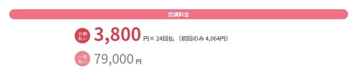 受講費用(一括79000円)